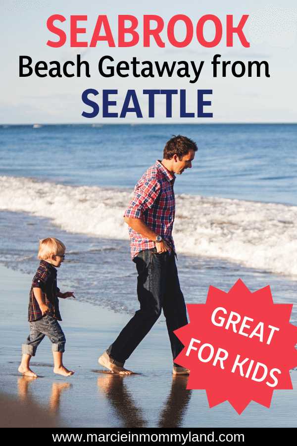 Looking for a kid-friendly beach getaway in Washington State? Seabrook is a small community with adorable shops, parks, family activities, outdoor fire pits, trails, horseback riding, and the BEACH! Click to read more or pin to save for later. www.marcieimommyland.com #seabrook #exploreWA #PNW #pacificnorthwest