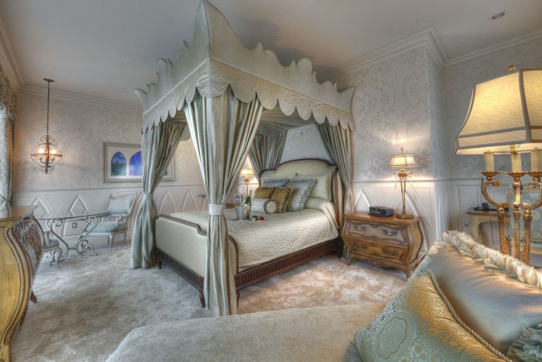 Photo of the Fairy Tale Suite at the Disneyland Hotel, which is a Disney hotel near Disneyland Resort in Anaheim, CA #disney #disneylandresort #disneylandhotel #fairytalesuite