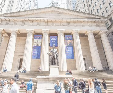 Photo of the Federal Hall on Wall Street as part of the Real New York Tours New York City in a Day tour #nyc #federalbuilding #realnewyorktours #nyctour