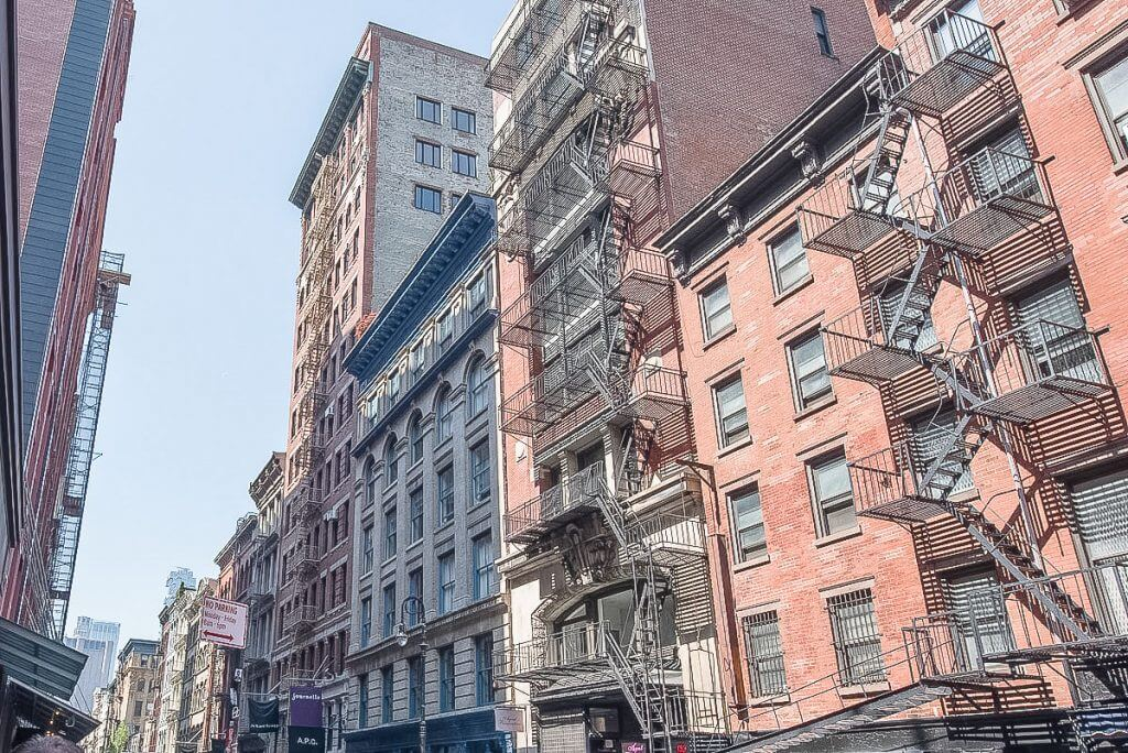 Photo of NYC fire escapes, which is an iconic thing in New York City #nyc #newyorkcity #fireescapes #nycarchitecture