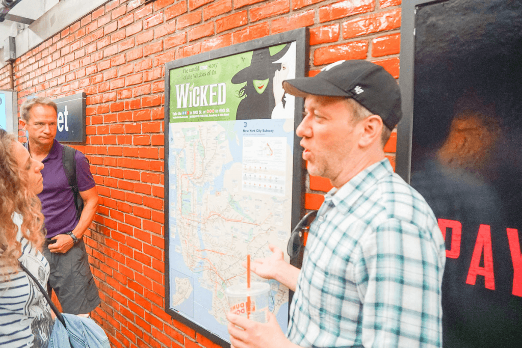 Photo of the NYC subway map during a guided tour of New York City #nyc #subway #nycsubway #realnewyorktours