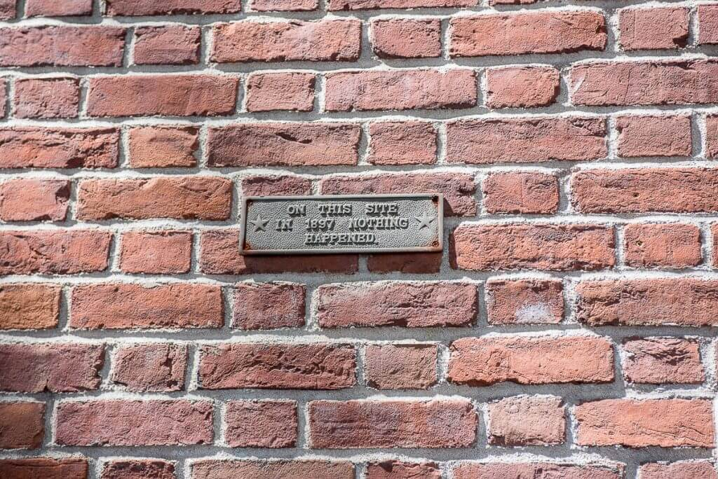 Photo of a plaque in Greenwich Village New York City #greenwichvillage #nyc #nyctour #tourofnyc