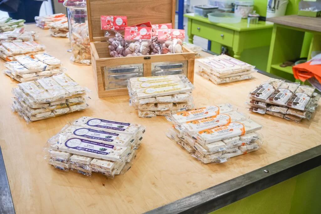 Photo of a nougat factory on Ile d'Orleans in Quebec, Canada. #nougat #nougaterie #quebecregion #nougatfactory #explorecanada