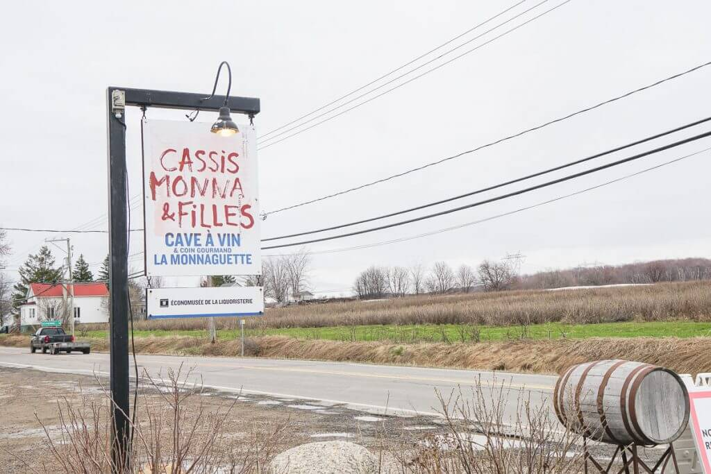 Photo of an Ile d'Orleans winery near Quebec City called Cassis Monna & Filles #quebecregion #wits18 #cassismonnafilles #iledorleans #quebec #winery