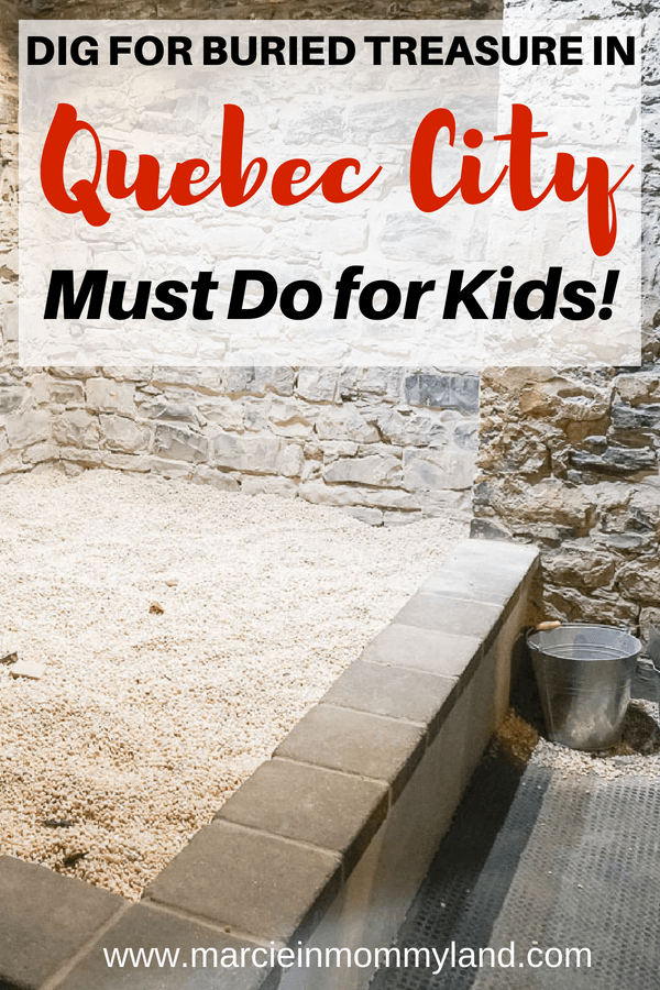 Heading to Quebec City this summer with kids? Families will love digging for artifacts in this archeological site under Dufferin Terrace near the Fairmont Chateau Frontenac #archeology #quebecregion #wits2018 #fairmontchateaufrontenac #quebecinsummer #quebecwithkids #familytravel