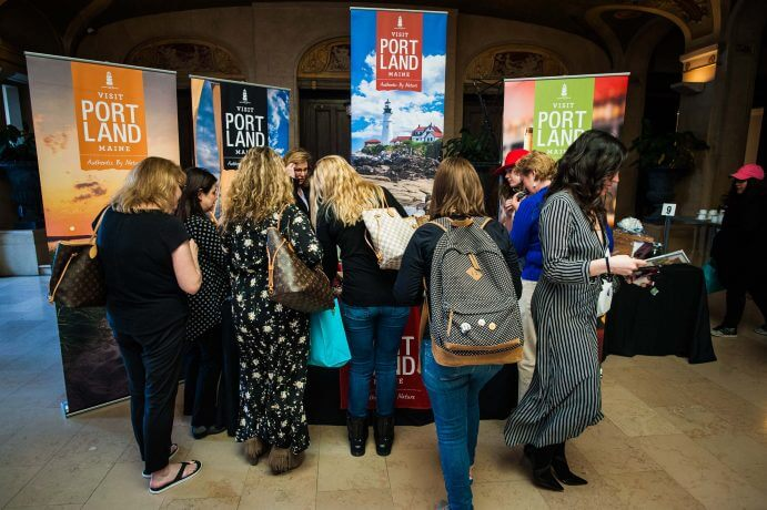 Photo of the sponsor marketplace at the Women in Travel Summit #wits18 #womenintravelsummit #blogconference #bloggingconference #travelblogconference