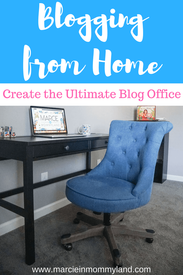 Find out how to create the ultimate blog office for blogging at home #blogoffice #homeoffice #blog #blogging #homedecor #roominspiration
