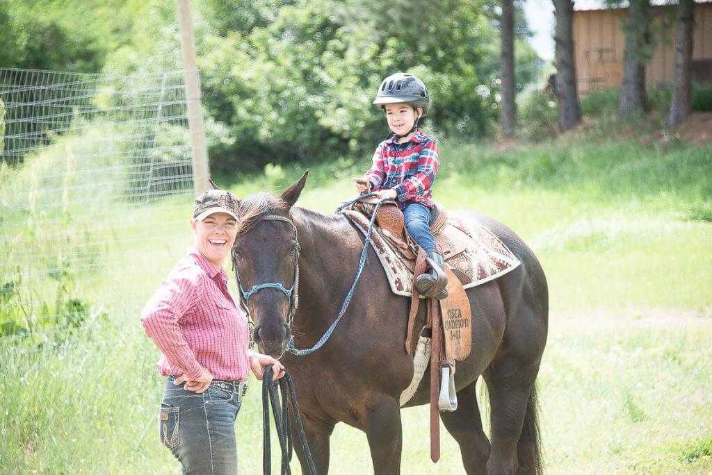 Photo of horseback riding at ThunderFoot Riding in Twisp, WA with is a fun thing to do near Winthrop, WA #twisp #winthrop #horsebackriding #horses #familytravel #washingtonstate