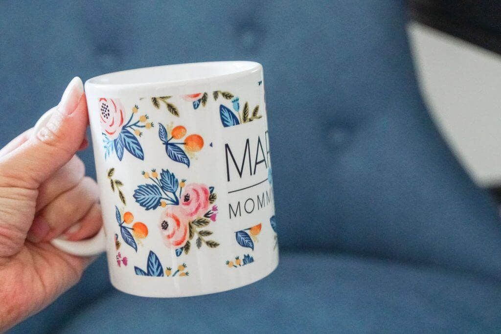 Photo of a custom mug from Shutterfly that makes me feel like a top mommy blogger when I'm blogging from home #shutterfly #coffeemug #momblog #mommyblog #mommyblogger