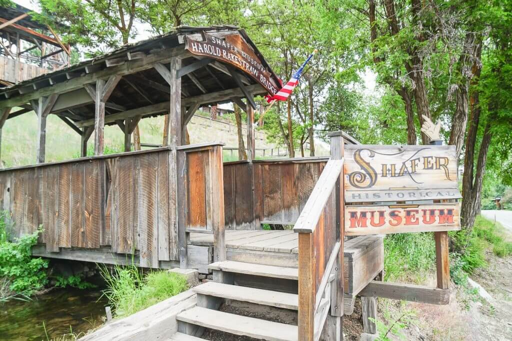 Photo of the entrance to Shafer Museum in Winthrop, a mining town in Washington State #winthropwa #pnw #miningmuseum #goldrush #wildwest #ghosttown #washingtonstate