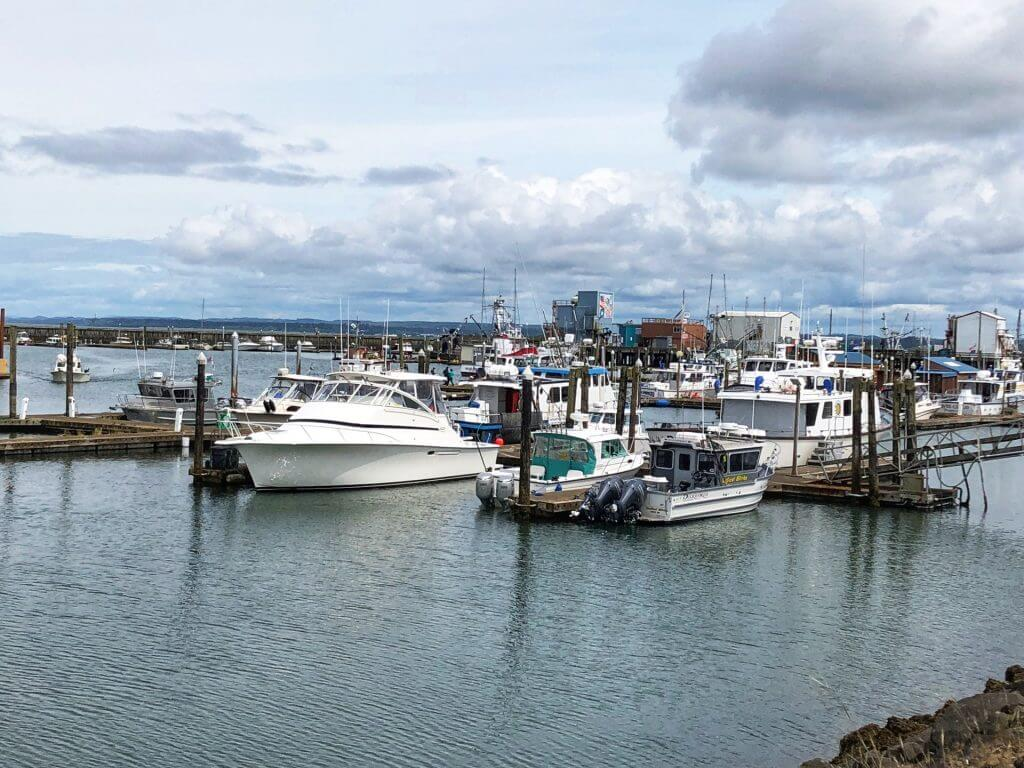 Photo of Westport Marina in Washington State, which is a nice PNW weekend getaway from Seattle #grayland #westport #washingtonstate #pnw #pacificnorthwest