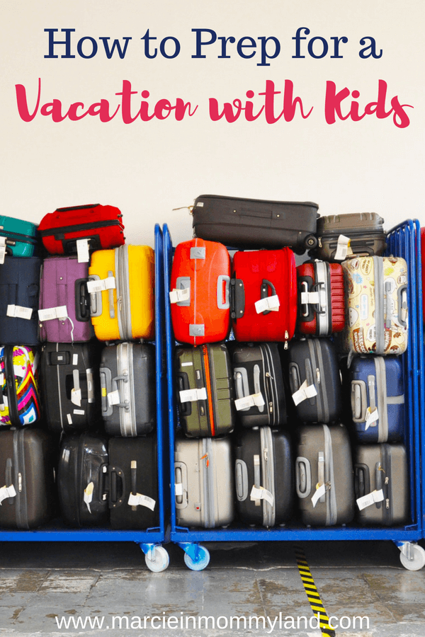 Worried about how to prep with a vacation with kids? Get my top tips for staying sane when flying with kids, packing for your family vacation, prepping for a road trip and more! Click to read more or pin to save for later. www.marcieinmommyland.com #familytravel #packinglist #travelwithkids #konmair