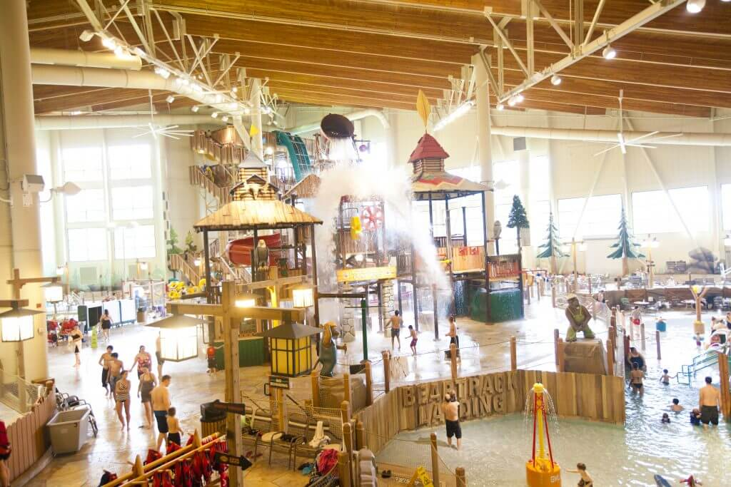 Photo of Great Wolf Lodge in Grand Mound, WA which is a fun weekend trip from Seattle #greatwolflodge #grandmound #waterpark #washingtonstate #pnw #familytravel