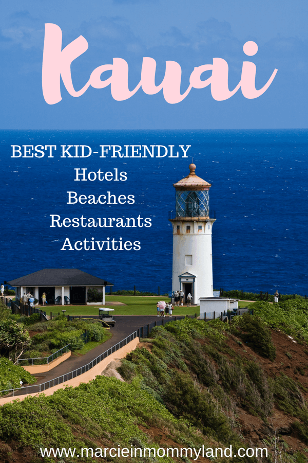 Heading to Kauai with kids? Find out the top kid-friendly hotels, beaches, restaurants, activities, attractions and more in this comprehensive guide to Kauai. Click to read more or pin to save for later. www.marcieinmommyland.com #kauai #visitkauai #hawaii #gohawaii #kauaihotel #kauaibeach #kauaiattractions