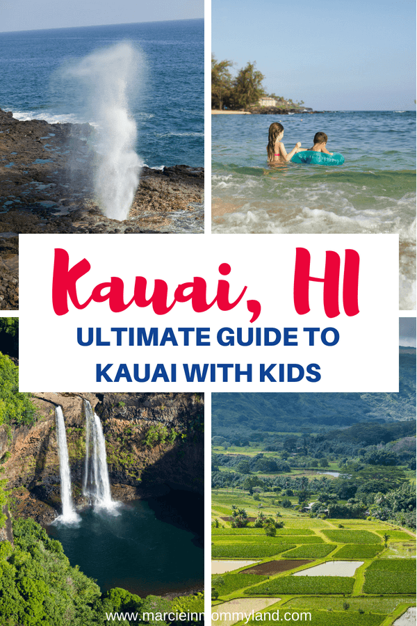 This ultimate guide to Kauai with kids features Kauai's top family-friendly luaus, beaches, hotels, activities and more! Click to read more or pin to save for later. www.marcieinmommyland.com #kauai #kauaiguide #hawaii #visitkauai #kauaiwithkids