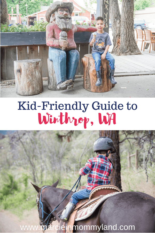 Want to explore a wild west town in Washington State? See this kid-friendly guide to Winthrop, WA, home of the oldest saloon in Washington! Click to read more or pin to save for later. www.marcieinmommyland.com #winthrop #winthropwa #washington #washingtonstate #easternwashington #northcascades #methowvalley #familytravel #travelwithkids