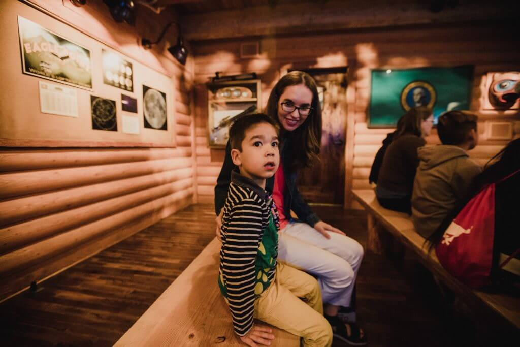 Photo of Wings Over Washington, a top Seattle attraction on the Seattle waterfront and is a fun thing to do in Seattle with kids #seattle #visitseattle #wingsoverwashington #seattleattraction #pier57 #seattlewaterfront