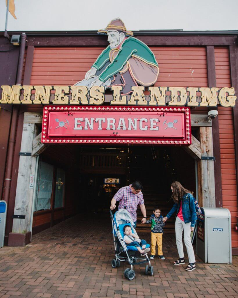 Photo of Miner's Landing on Pier 57 Seattle, which is home to Seattle waterfront carousel, Seattle ferris wheel, Wings Over Washington and more. #pier57 #minerslanding #seattlewaterfront #thegreatwheel #wingsoverwashington #seattlewithkids