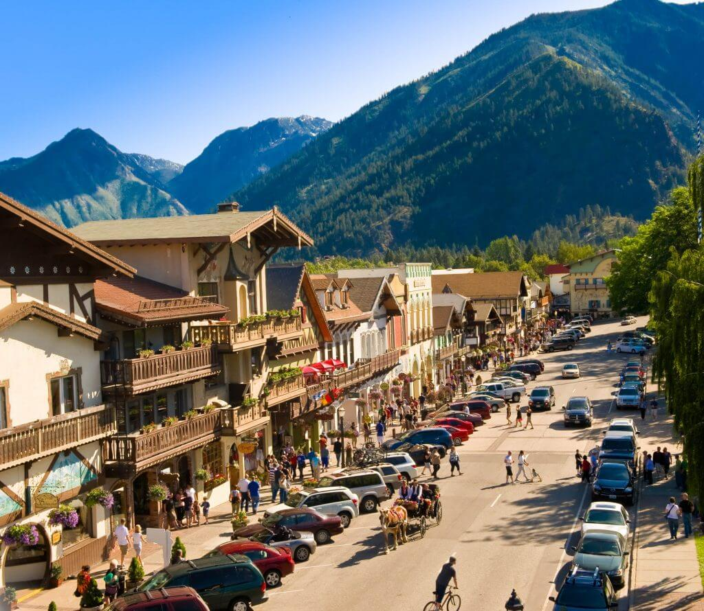 Photo of Leavenworth, WA a small Bavarian town a few hours from Seattle, WA #leavenworth #washingtonstate #smalltown #bavarian