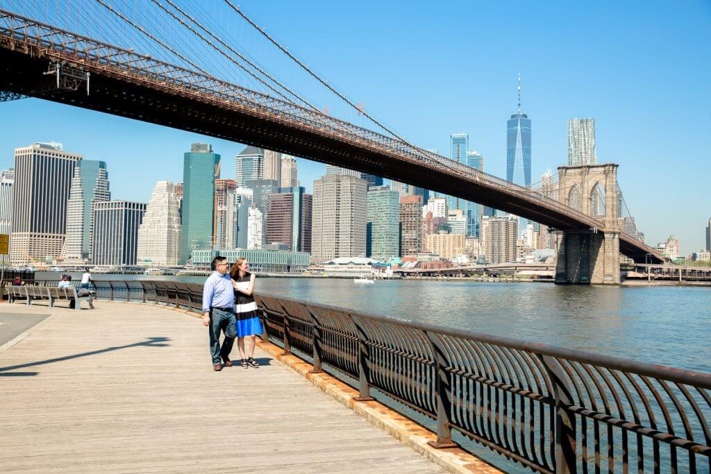 Photo in the DUMBO area of Brooklyn in NYC, next to the Brooklyn Bridge and the Manhattan skyline #dumbo #brooklyn #flytographer #nycgo #nyctips