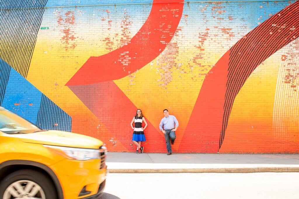 Photo in Brooklyn with a NYC taxi in front of a graffiti wall in NYC #nyc #brooklyn #taxi #nyctaxi #newyorkcity #flytographer