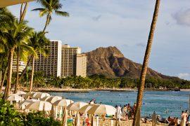 Photo of Waikiki Beach and Diamond Head on Oahu #diamondhead #oahu #hawaii #waikiki