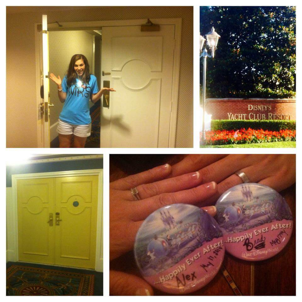 Photo of a bride getting some Disney pixie dust with a free Walt Disney World room upgrade! #disney #disneysmmc #waltdisneyworld #disneypixiedust
