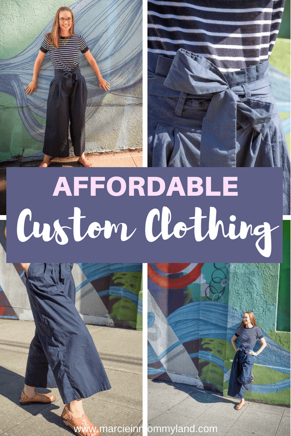 Looking for women's custom clothing that is budget-friendly? eShakti is an online company providing custom pants, dresses, jumpsuits and more! Click to read more or pin to save for later. www.marcieinmommyland.com #eshakti #customclothing #custompants #womensfashion #womenspants #paperbagpants