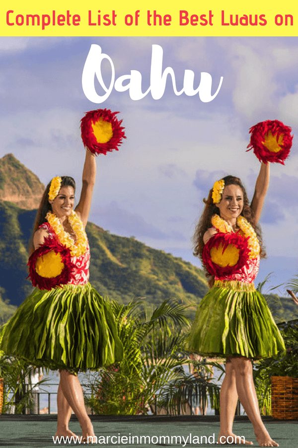 Having a hard time choosing which Oahu luau is right for your family? Read this complete list of the best luaus on Oahu and find out which luaus are free for kids! List includes Waikiki luaus, Disney Aulani luau, the Polynesian Cultural Center and more! Click to read more or pin to save for later. www.marcieinmommyland.com #oahu #oahuluau #oahuactivities #thingstodoinoahu #familytravel #hawaiianvacation #polynesianculturalcenter #toaluau #waikiki #honolulu #diamondhead #visithawaii #visitoahu