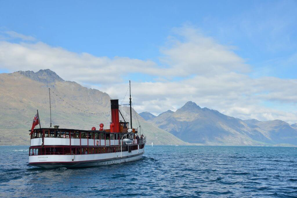 Photo of the TSS Earnslaw, a steamboat in Queenstown, New Zealand #tssearnslaw #earnslaw #queenstown #newzealand #steamship #steamboat