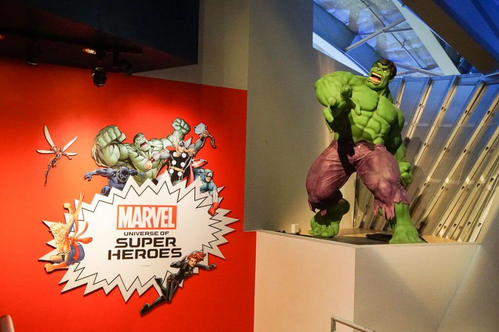 Photo of Hulk as part of the Marvel Universe of Super Heroes exhibit at MoPop, formerly the Experience Music Project at Seattle Center #hulk #marvel #mopopculture #seattlecenter #visitseattle #comicbook