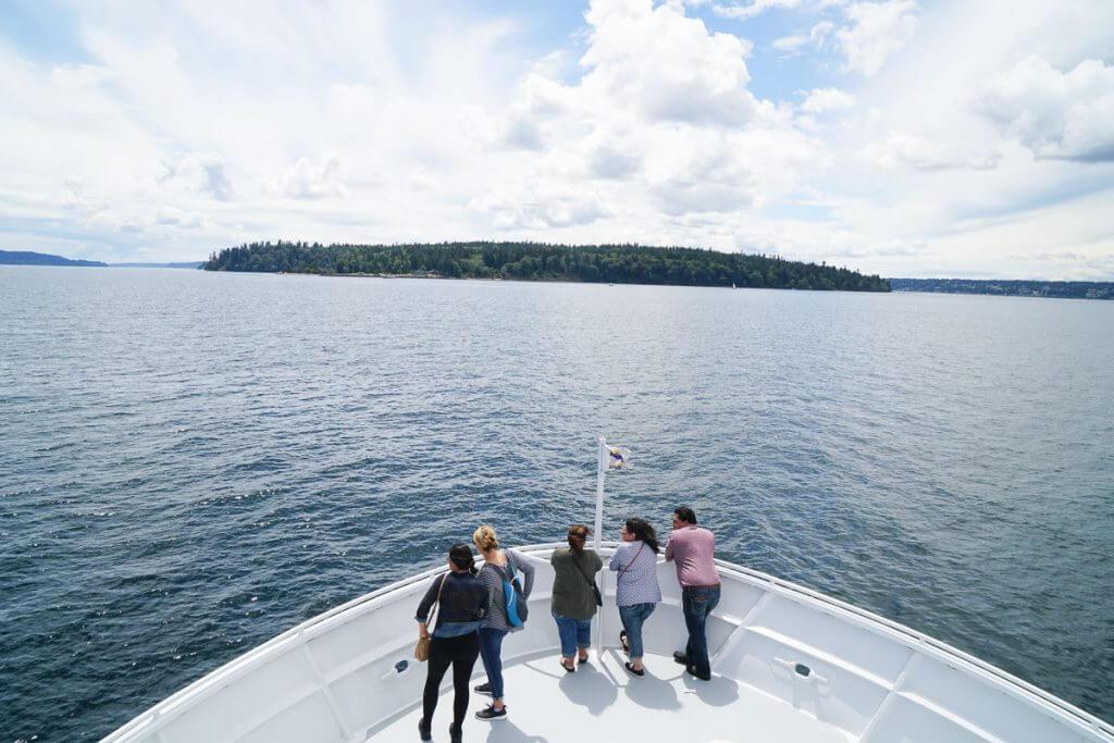 Photo of Blake Island from the Argosy Cruise Seattle to Tillicum Village #argosycruise #blakeisland #pnw #pacificnorthwest #seattlecruise #seattleboat