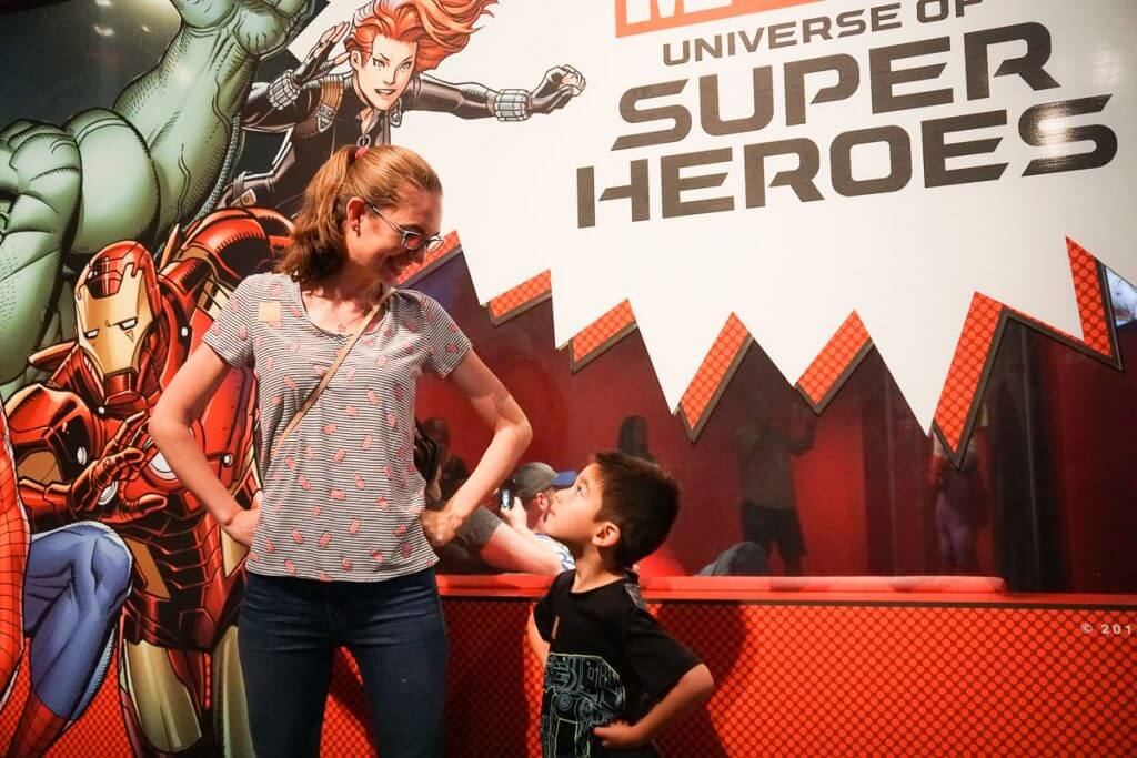 Photo of the Marvel Universe of Super Heroes special exhibit at MoPOP (Seattle Museum of Pop Culture) at Seattle Center #marvel #universeofsuperheroes #museumofpopculture #mopop #seattewa