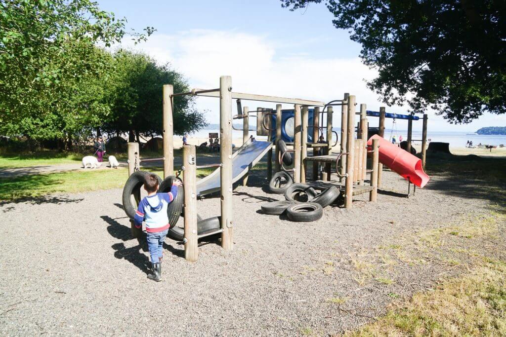 Photo of the playground on Blake Island near Seattle, WA #playground #argosycruises #blakeisland #tillicumvillage #pnw #pacificnorthwest