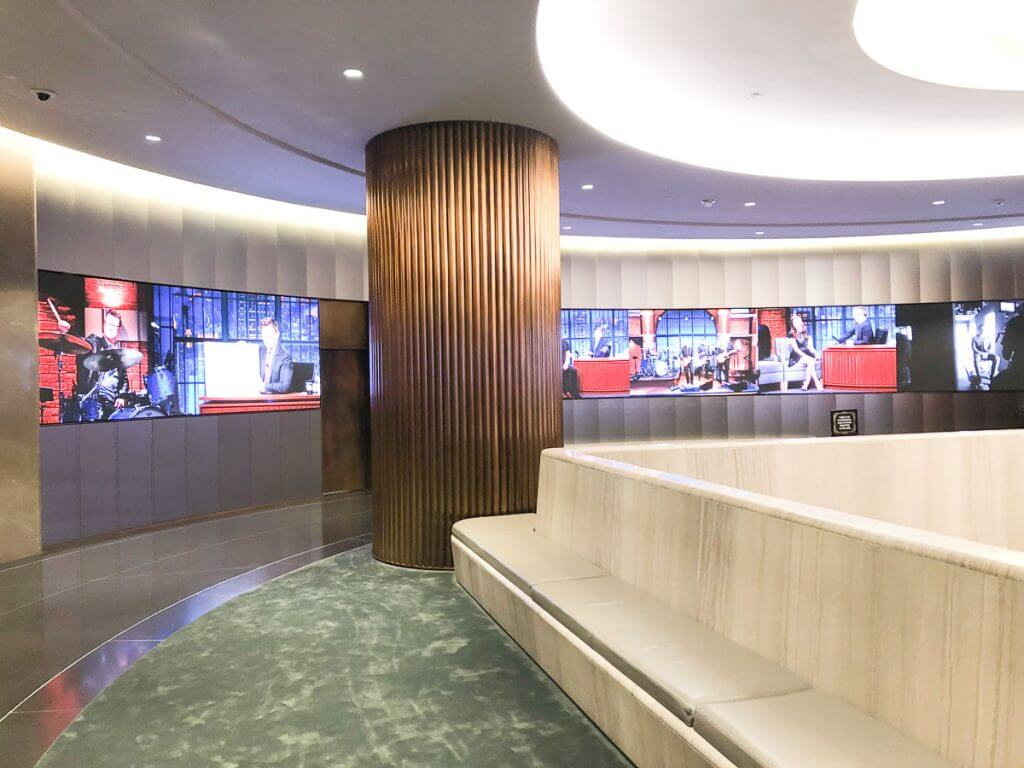 Photo of the waiting area for Late Night with Seth Meyers at NBC Studios at Rockefeller Center in NYC #nyc #rockefellercenter #30rock #latenightwithsethmeyers