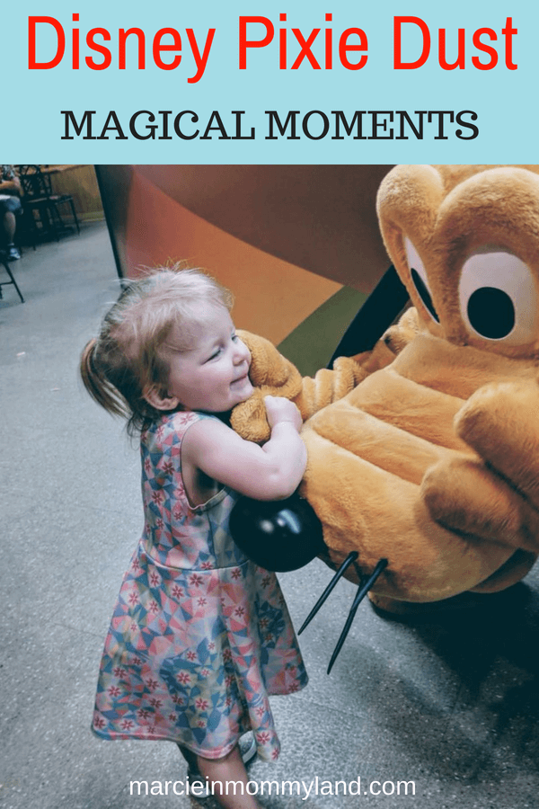 Ready for some heartwarming Disney Vacation moments? Disney Cast Members sometimes sprinkle Disney Pixie Dust to families visiting. Click to read more or pin to save for later. www.marcieinmommyland.com #disney #disneysmmc #disneymoms #disneypixiedust #magicalmoments #disneycastmembers #pixiedust