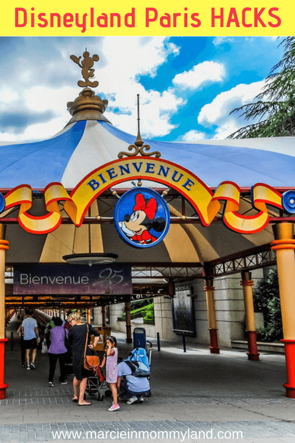 Want to know some insider Disneyland Paris hacks? Get the top tips from a local who frequents Disneyland Paris with her family. Click to read more or pin to save for later. www.marcieinmommyland.com #disney #disneylandparis #disneyhacks #disneytips #paris #familytravel #pariswithkids