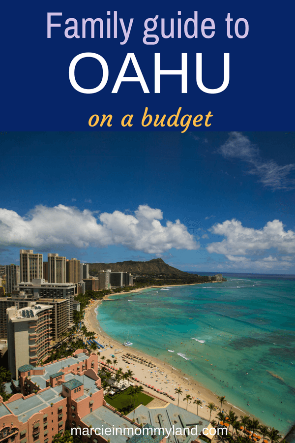 Trying to figure out how to afford a family vacation to Oahu? Get my tips for scoring the best airfare deals, cheap hotels, discount car rentals, and affordable family activities on Oahu. Click to read more or pin to save for later. www.marcieinmommyland.com #familytravel #oahu #waikiki #hawaii #budgettravel