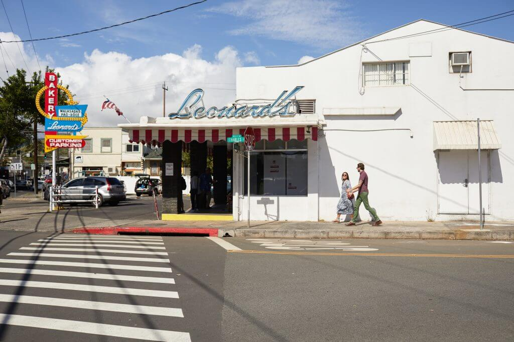 Photo of Leonard's Bakery on Oahu, which is famous for their maladadas, a Portuguese donut popular in Hawaii #maladada #leonardsbakery #oahu #oahufood #oahueats #portuguesedonut #maladadas