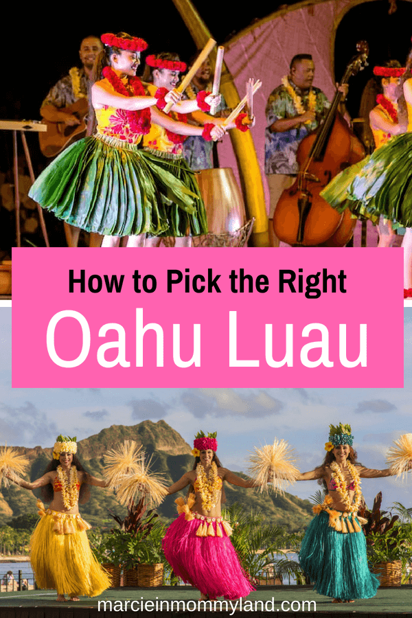 Wondering how to pick the right Oahu luau for your family? Get my list of the best Oahu luau in Waikiki, Honolulu, Disney Aulani, etc. Click to read more or pin to save for later. www.marcieinmommyland.com #oahu #visitoahu #visithawaii #hawaii #luau #waikiki #honolulu #familytravel #hawaiianislands