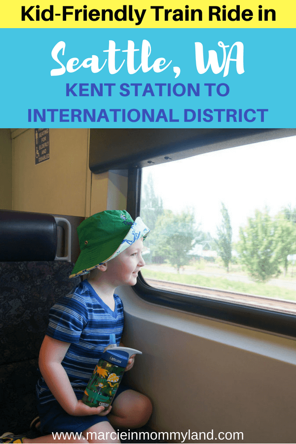 Looking for a fun thing to do in Seattle with kids? How about riding the Sounder Train from Kent Station to Seattle, WA? Click to read more or pin to save for later. www.marcieinmommyland.com #soundtransit #sounder #kentstation #seattlewa #visitseattle #visitkent