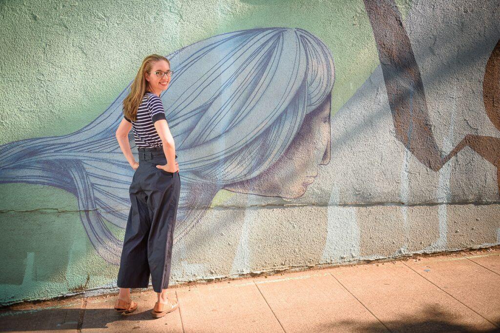 Photo of custom clothing for women, a pair of customized paper bag pants for women #eshakti #paperbagpants #fallfashion #summerfashion #womensfashion #seattlestyle