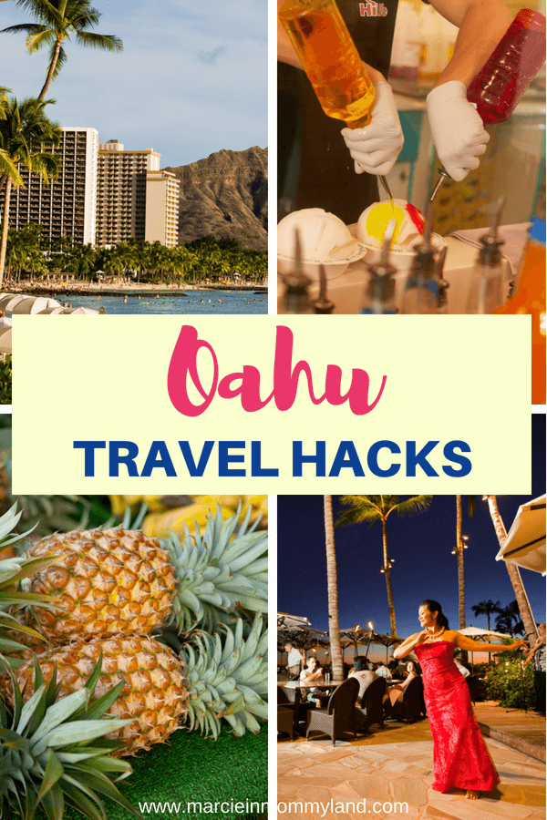 Wondering how so many people afford a Hawaiian vacation every year? Get my top Oahu travel hacks and tips for Oahu on a budget. Find out how to score hotel deals, discount car rentals, and how to save money on food in Hawaii. Click to read more or pin to save for later. www.marcieinmommyland.com #oahu #travelhacks #familytravel #hawaii #waikiki #budgettravel #traveltips