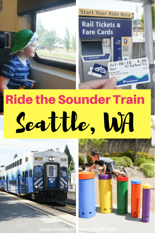Do your kids love riding trains? Take the Sounder Train from Kent, WA to Seattle, WA and explore Chinatown for this easy Seattle play date. Click to read more or pin to save for later. www.marcieinmommyland.com #sounder #soundtransit #seattlwa #visitseattle #seattletrain #train #kentwa #visitkent