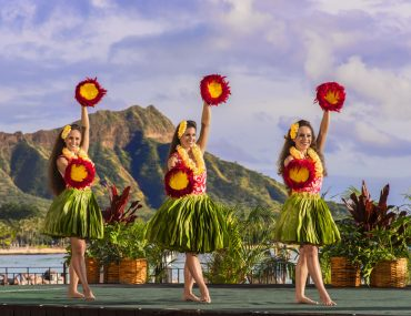 Photo of the AHA`AINA LUAU at The Royal Hawaiian Resort in Waikiki, Oahu. It's one of the best luaus on Oahu and an easy Waikiki luau option. This Honolulu luau offers the best views of Diamond Head. #luau #oahu #waikiki #royalhawaiian #gohawaii #gooahu #visitoahu #hawaiianvacation