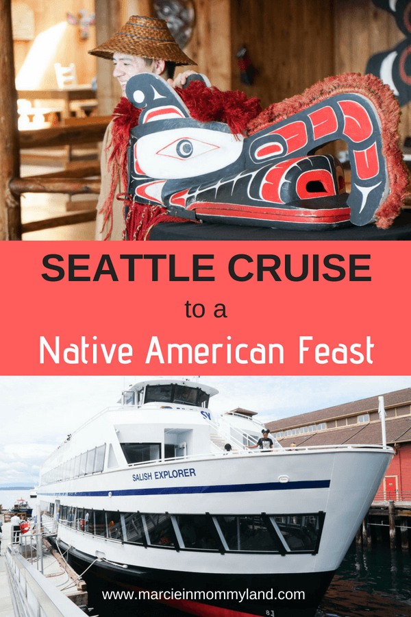 Are you looking for a Native American cultural experience in Seattle, Washington? Argosy Cruises have a half-day Seattle cruise to Blake Island, home of Tillicum Village. Enjoy a buffet dinner in a traditional Longhouse while watching Native American dancing and storytelling. Then, explore the natural beauty of Blake Island. Click to read more or pin to save for later. www.marcieinmommyland.com #argosycruises #seattle #seattlewa #pnw #pacificnorthwest #nativeamerican #longhouse #duwamish #chiefseattle #tillicumvillage #blakeisland #seattlecruise