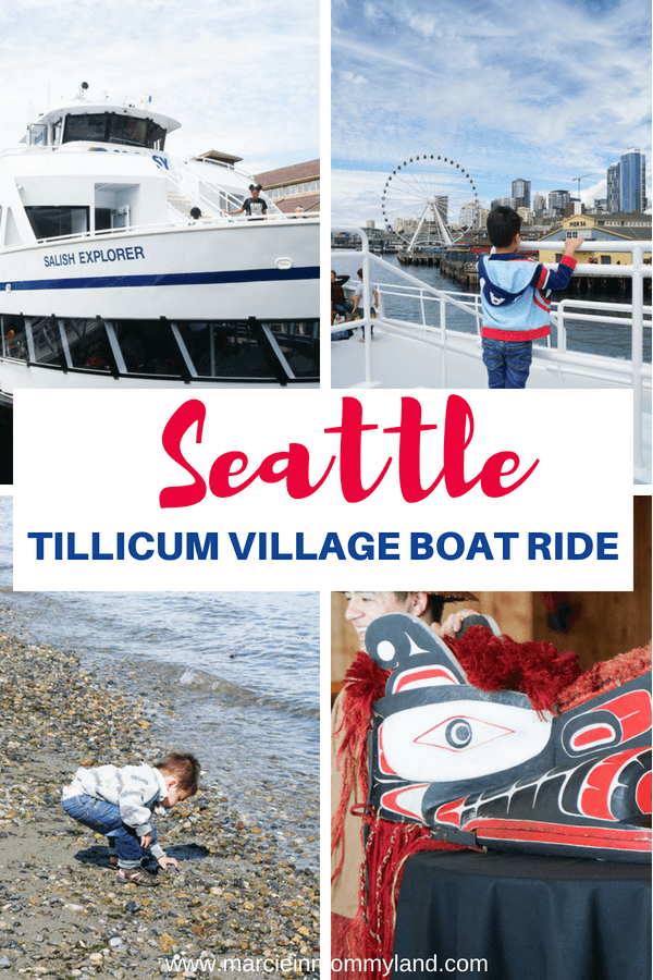 Are you looking for fun things to do in Seattle, Washington? Argosy Cruises offers a Tillicum Village boat ride to Blake Island, just 40 minutes from Seattle. It leaves from the iconic Seattle waterfront and is a perfect half-day adventure in the Pacific Northwest. Click to read more or pin to save for later. www.marcieinmommyland.com #seattle #argosycruises #seattlecruise #seattleboat #tillicumvillage #blakeisland #seattleattractions #seattleadventure #pnw #pacificnorthwest