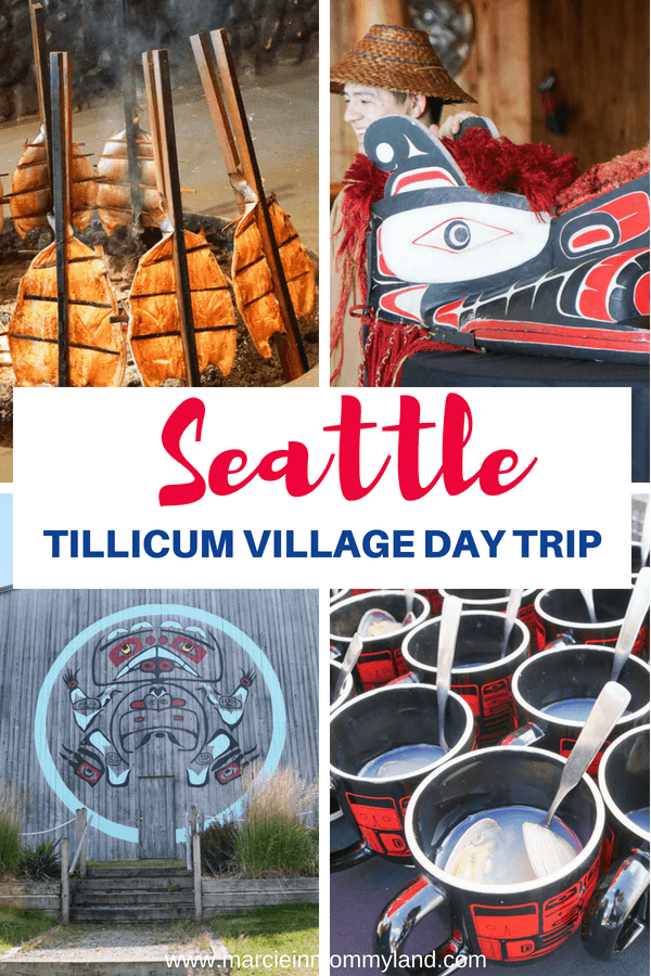 Want to experience Native American culture in Seattle, Washington? Perfect for people of all ages and abilities, the Tillicum Village day trip starts at the Seattle Waterfront. There, you'll board Argosy Cruises to Blake Island to enjoy a buffet meal and Native American storytelling and dancing. Click to read more or pin to save for later. www.marcieinmommyland.com #seattle #tillicumvillage #nativeamerican #tribal #argosycruises #seattledaytrip #seattleattractions #seattletourism #visitseattle