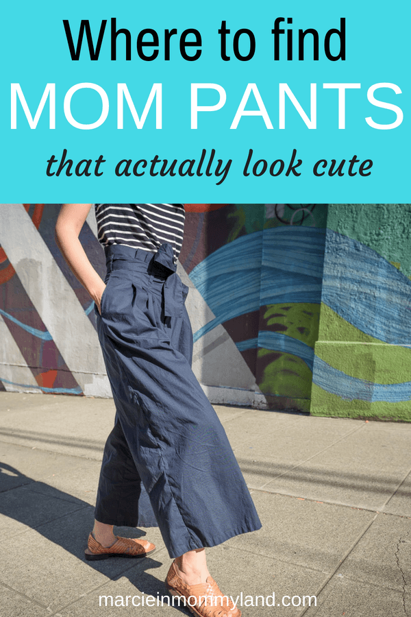 Tired of wearing black leggings? Find Mom pants that actually look cute. eShakti sells custom clothing for women that's fashionable yet affordable. Click to read more or pin to save for later. www.marcieinmommyland.com #momfashion #custompants #paperbagpants #momlife #momblog #customclothing #fallfashion