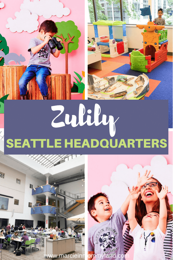 Did you know Zulily's Seattle headquarters has multiple play areas, an atrium-style cafeteria, a huge warehouse of toys, and tons of photo sets? See what it's really like inside Zulily's HQ in Washington State. Click to read more or pin to save for later. www.marcieinmommyland.com #zulily #zulilyhq #seattle #seattlewa #seattlebusiness #kidsclothing #kidsfashion #momfashion #fashion #toys